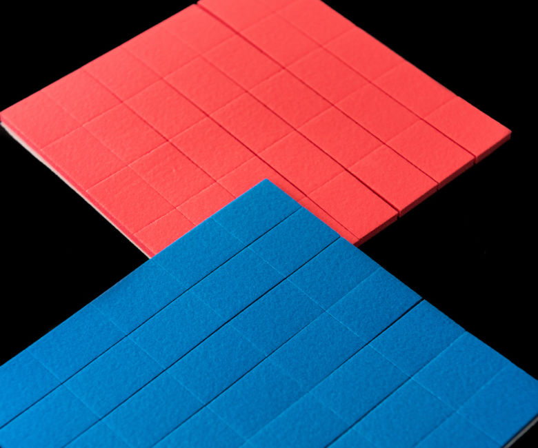Coloured Spacer Pads on Sheets